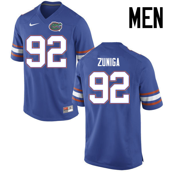 Men Florida Gators #92 Jabari Zuniga College Football Jerseys Sale-Blue