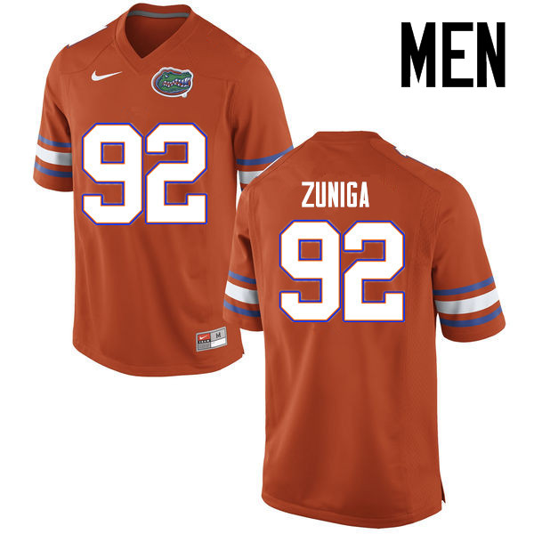 Men Florida Gators #92 Jabari Zuniga College Football Jerseys Sale-Orange