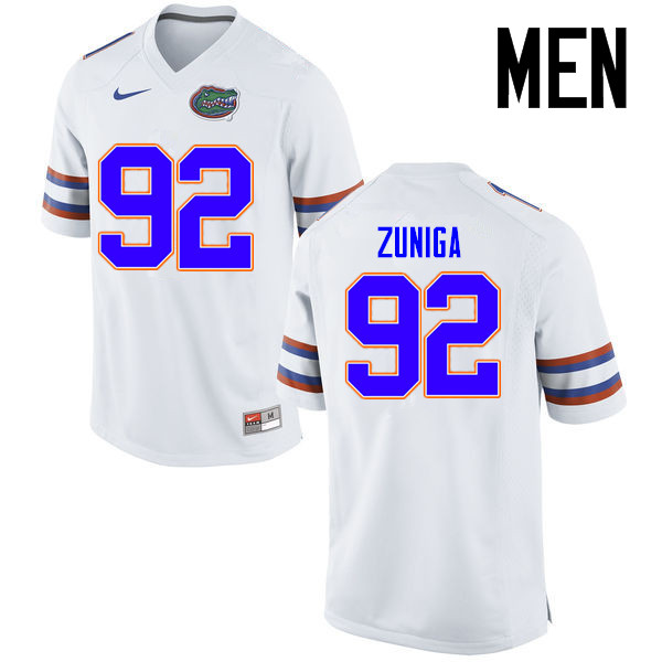 Men Florida Gators #92 Jabari Zuniga College Football Jerseys Sale-White