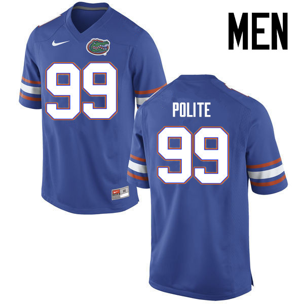 Men Florida Gators #99 Jachai Polite College Football Jerseys Sale-Blue