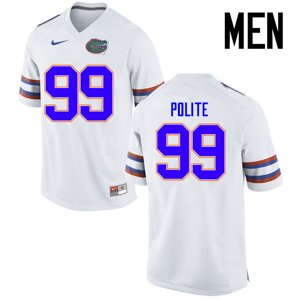 Men Florida Gators #99 Jachai Polite College Football Jerseys Sale-White