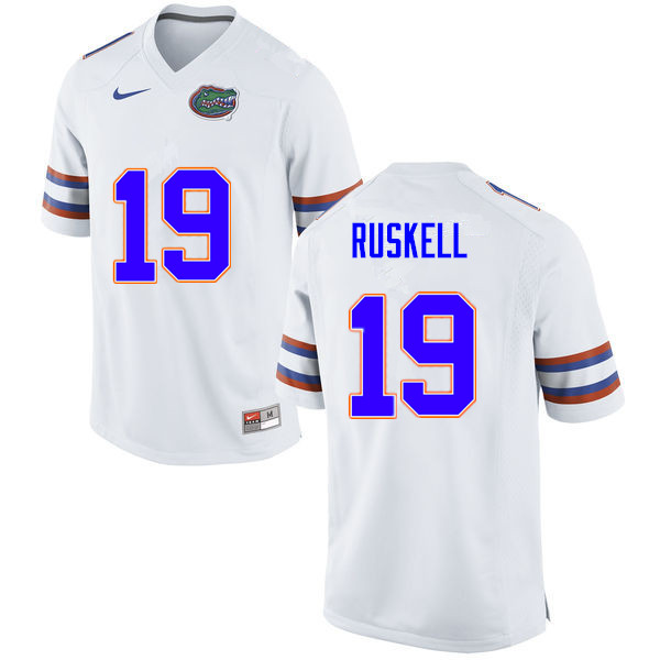 Men #19 Jack Ruskell Florida Gators College Football Jerseys Sale-White
