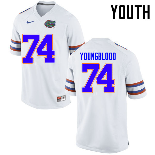 Youth Florida Gators #74 Jack Youngblood College Football Jerseys Sale-White