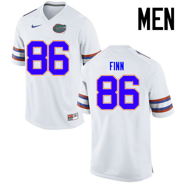 Men Florida Gators #86 Jacob Finn College Football Jerseys Sale-White