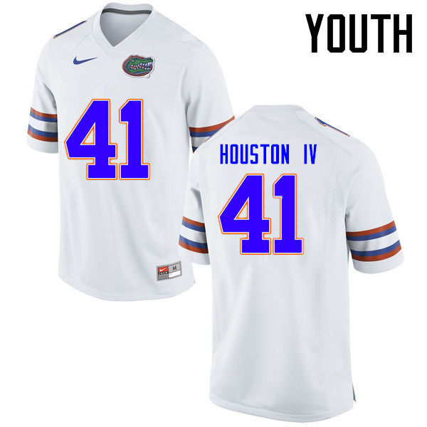 Youth Florida Gators #41 James Houston IV College Football Jerseys Sale-White