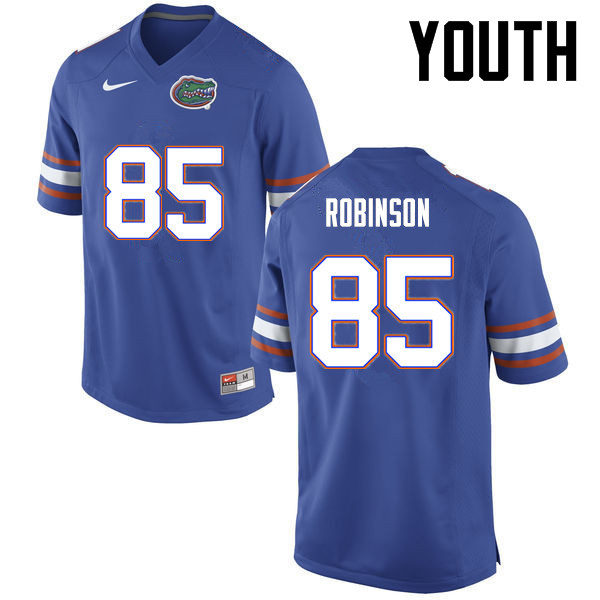 Youth Florida Gators #85 James Robinson College Football Jerseys-Blue