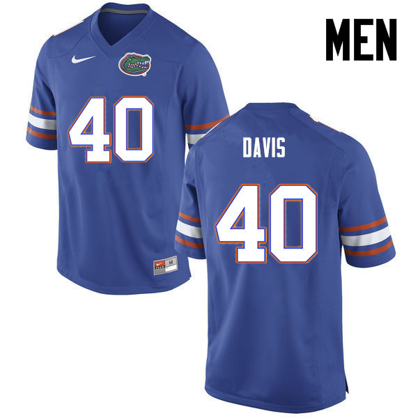 Men Florida Gators #40 Jarrad Davis College Football Jerseys-Blue