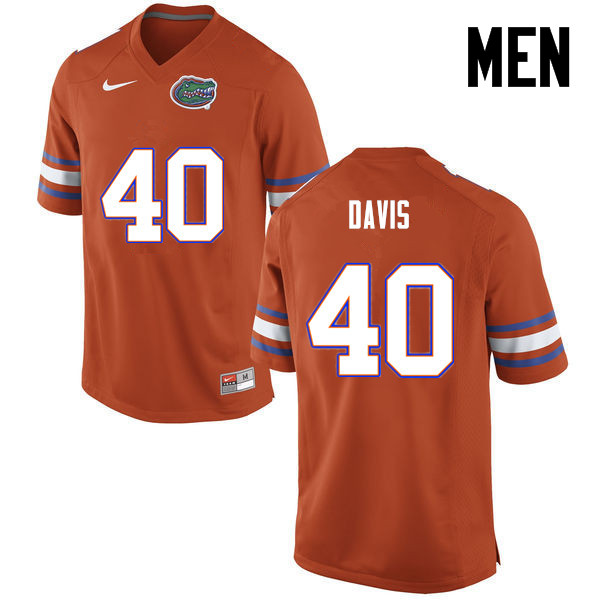 Men Florida Gators #40 Jarrad Davis College Football Jerseys-Orange