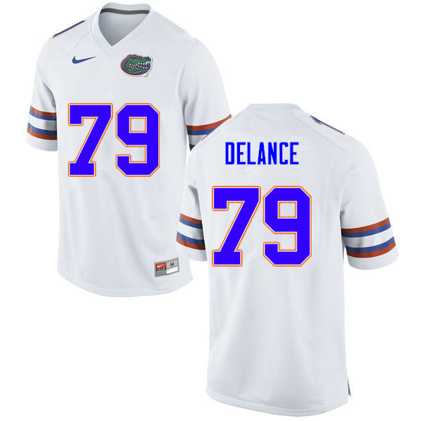 Men #79 Jean DeLance Florida Gators College Football Jerseys Sale-White