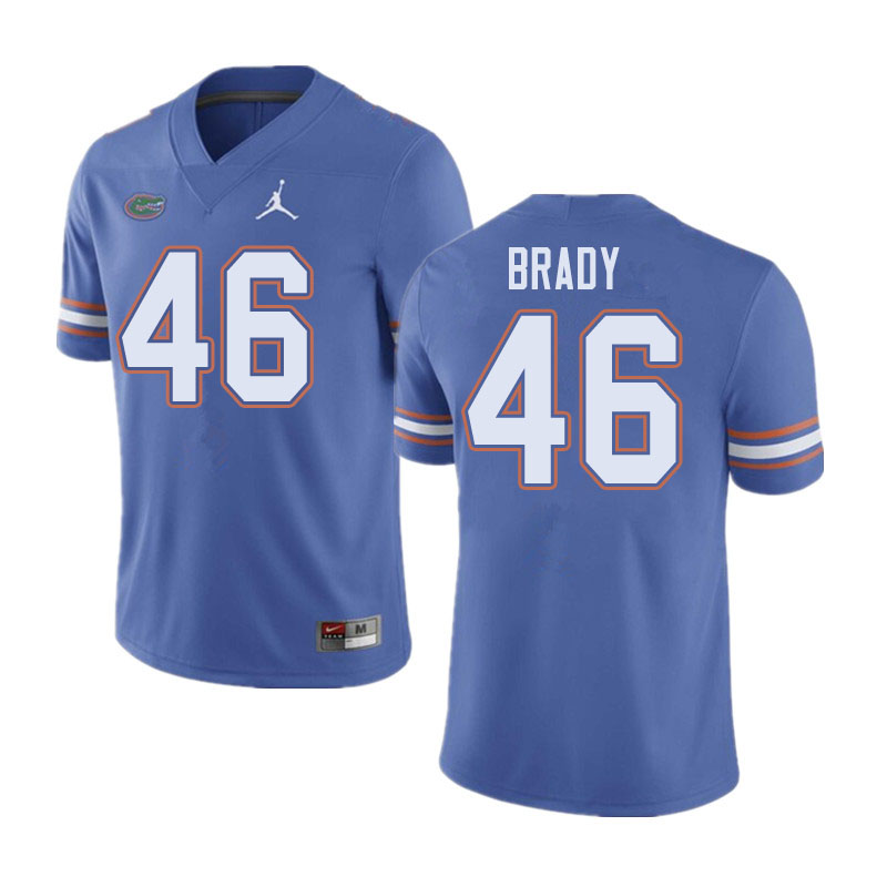 Jordan Brand Men #46 John Brady Florida Gators College Football Jerseys Sale-Blue
