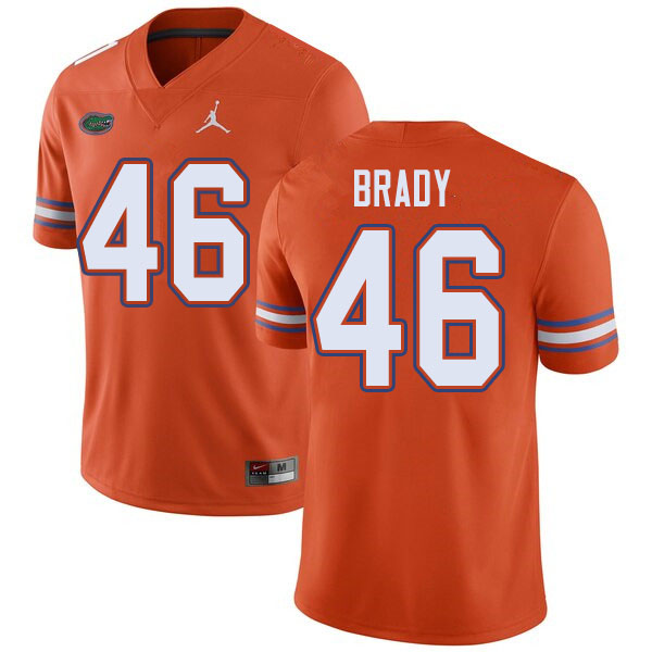 Jordan Brand Men #46 John Brady Florida Gators College Football Jerseys Sale-Orange