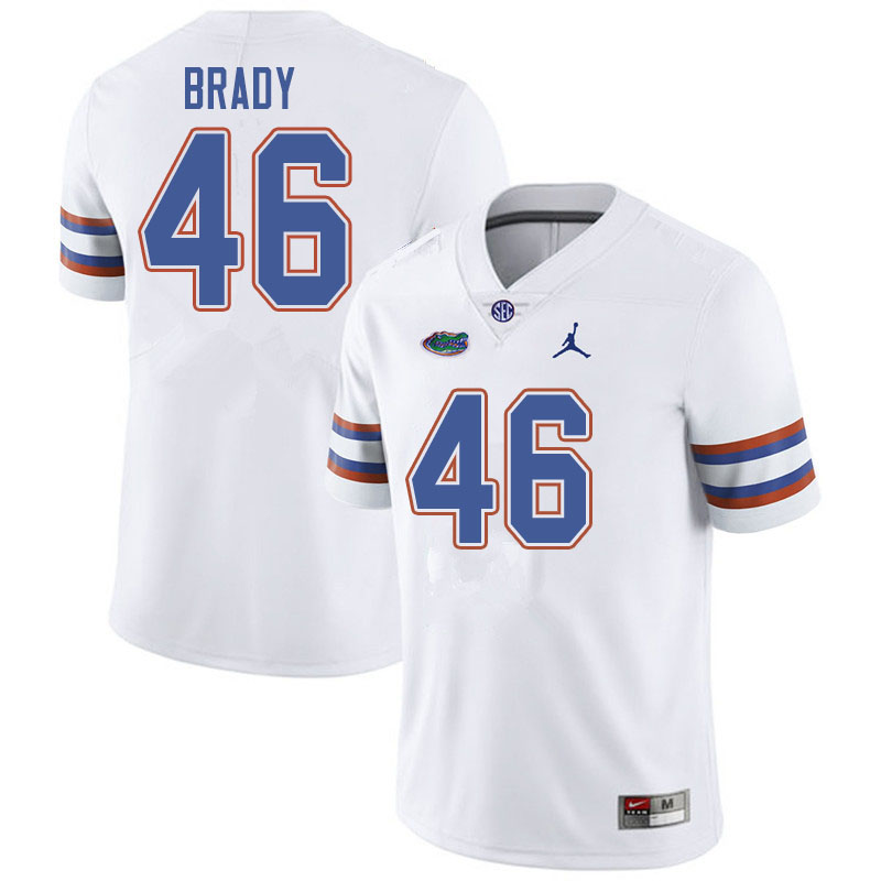 Jordan Brand Men #46 John Brady Florida Gators College Football Jerseys Sale-White