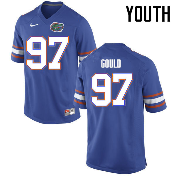 Youth Florida Gators #97 Jon Gould College Football Jerseys Sale-Blue