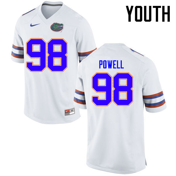 Youth Florida Gators #98 Jorge Powell College Football Jerseys Sale-White