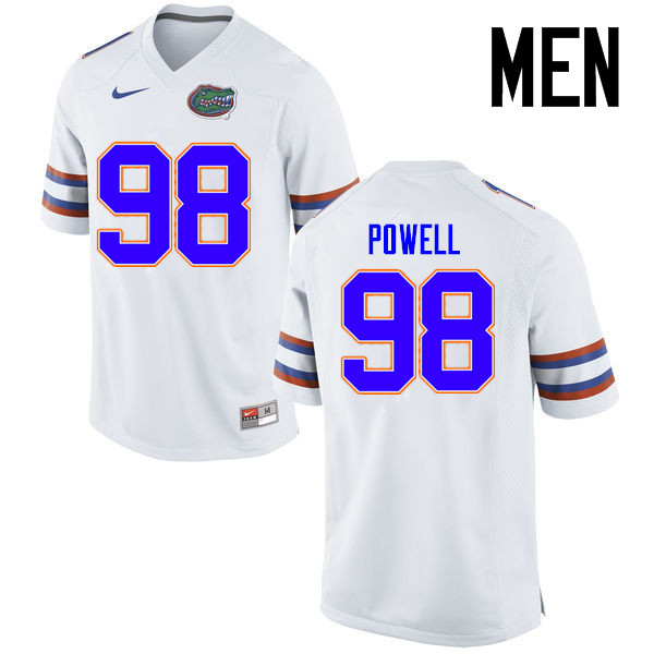 Men Florida Gators #98 Jorge Powell College Football Jerseys Sale-White