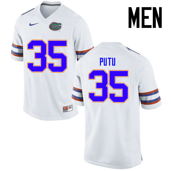 Men Florida Gators #35 Joseph Putu College Football Jerseys Sale-White