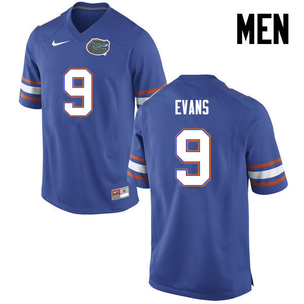 Men Florida Gators #9 Josh Evans College Football Jerseys-Blue