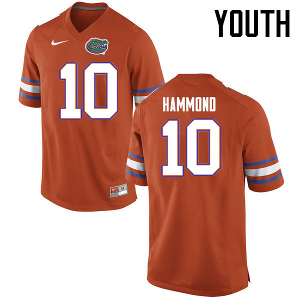 Youth Florida Gators #10 Josh Hammond College Football Jerseys Sale-Orange