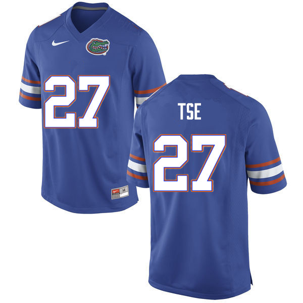 Men #27 Joshua Tse Florida Gators College Football Jerseys Sale-Blue