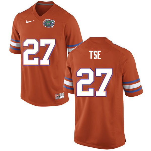 Men #27 Joshua Tse Florida Gators College Football Jerseys Sale-Orange