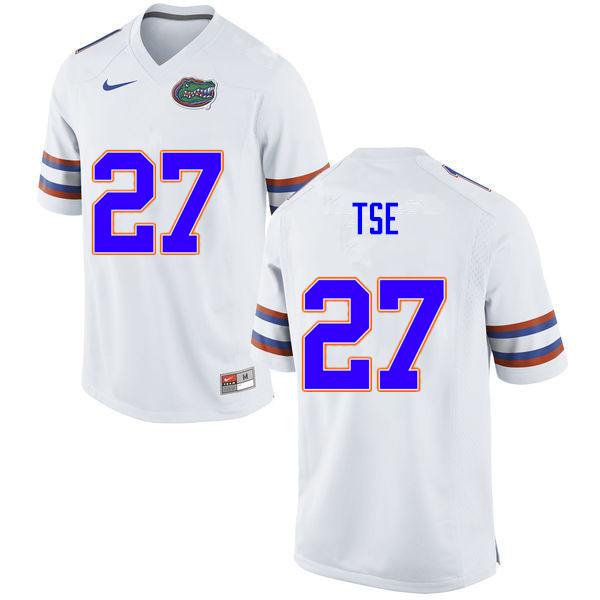 Men #27 Joshua Tse Florida Gators College Football Jerseys Sale-White