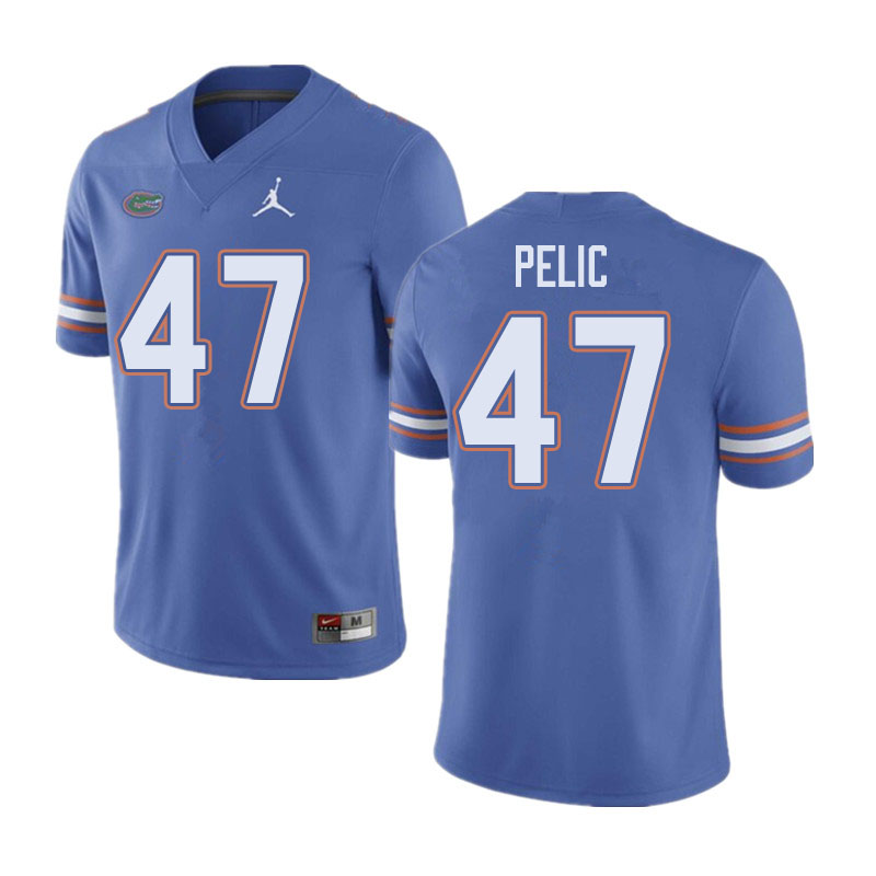 Jordan Brand Men #47 Justin Pelic Florida Gators College Football Jerseys Sale-Blue