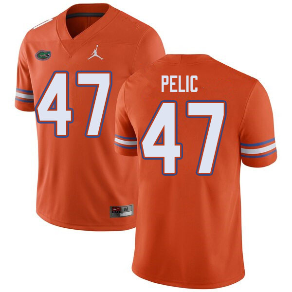 Jordan Brand Men #47 Justin Pelic Florida Gators College Football Jerseys Sale-Orange