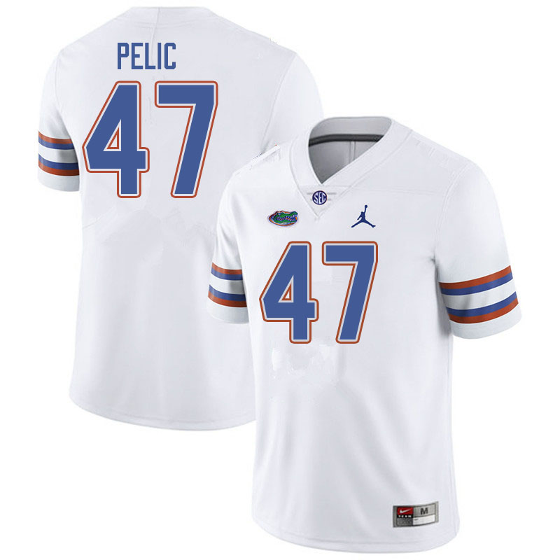 Jordan Brand Men #47 Justin Pelic Florida Gators College Football Jerseys Sale-White