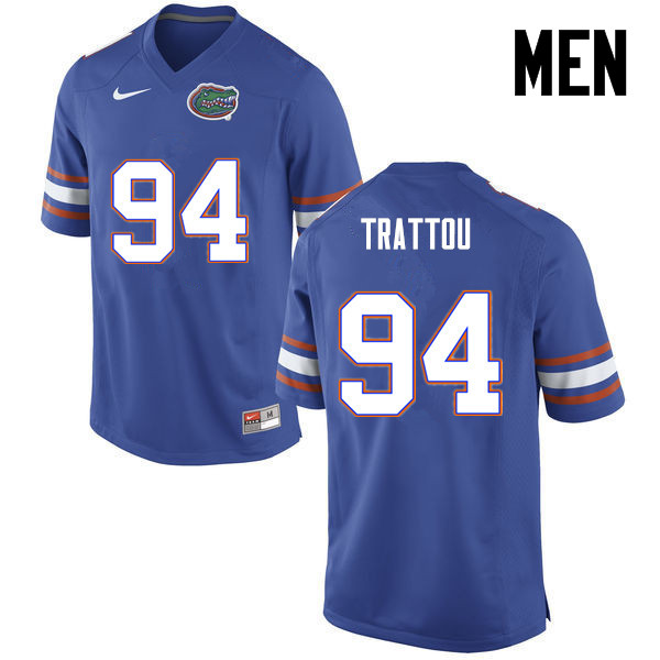 Men Florida Gators #94 Justin Trattou College Football Jerseys-Blue