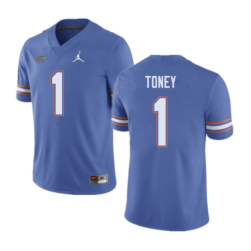 Jordan Brand Men #1 Kadarius Toney Florida Gators College Football Jerseys Sale-Blue