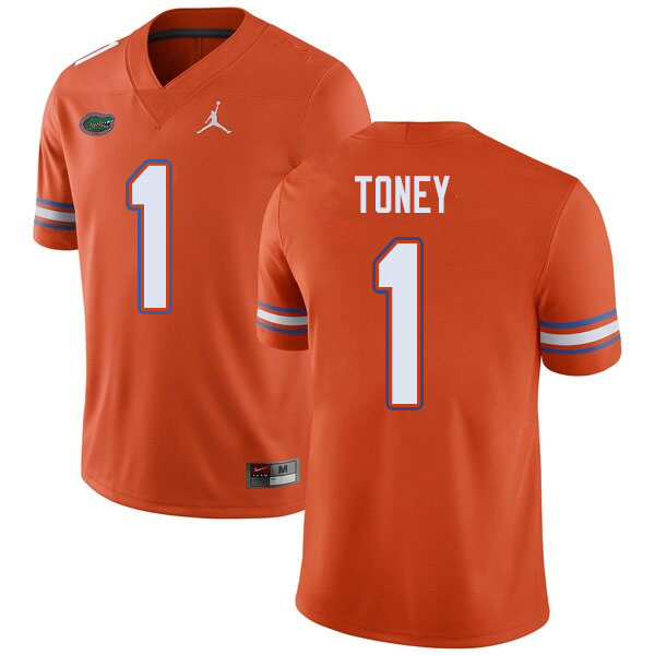Jordan Brand Men #1 Kadarius Toney Florida Gators College Football Jerseys Sale-Orange