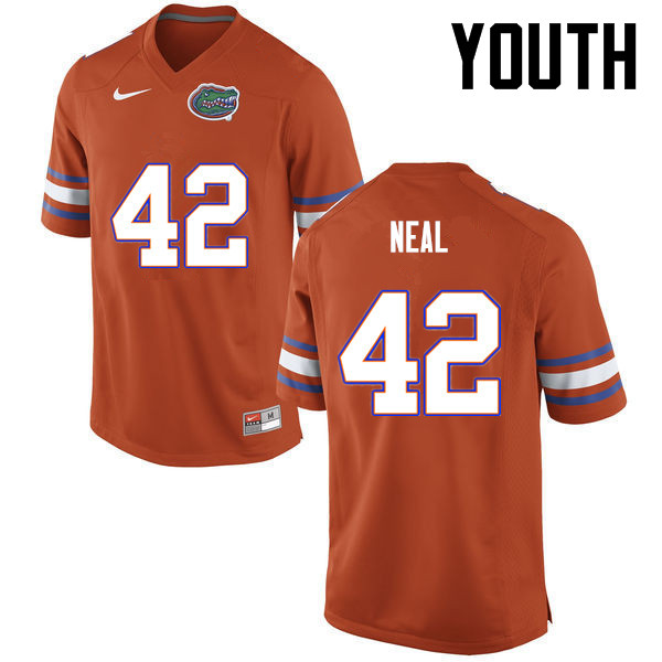 Youth Florida Gators #42 Keanu Neal College Football Jerseys-Orange