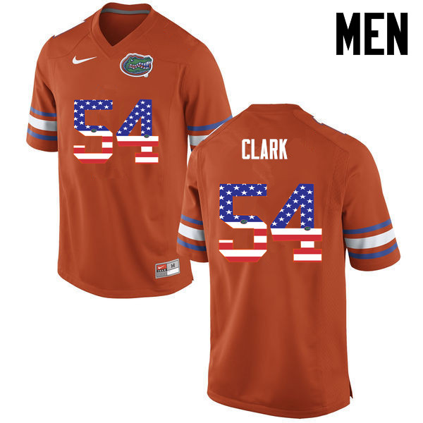 Men Florida Gators #54 Khairi Clark College Football USA Flag Fashion Jerseys-Orange