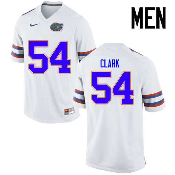 Men Florida Gators #54 Khairi Clark College Football Jerseys Sale-White