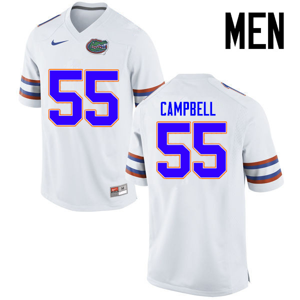 Men Florida Gators #55 Kyree Campbell College Football Jerseys Sale-White