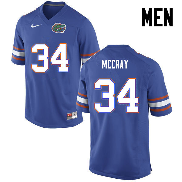 Men Florida Gators #34 Lerentee McCray College Football Jerseys-Blue