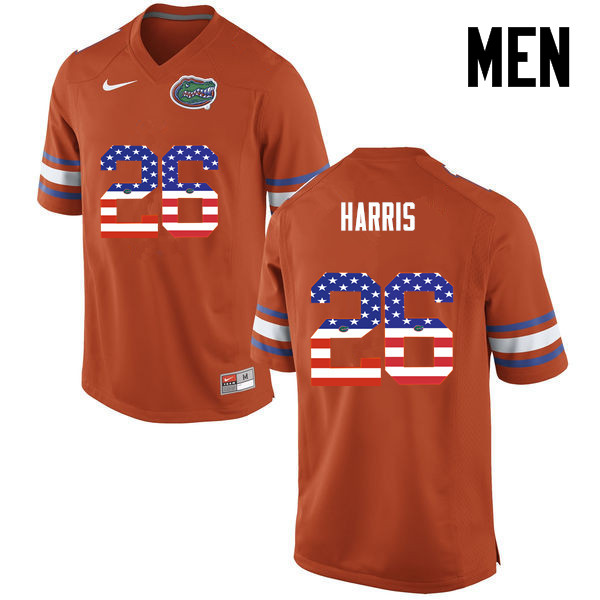 Men Florida Gators #26 Marcell Harris College Football USA Flag Fashion Jerseys-Orange
