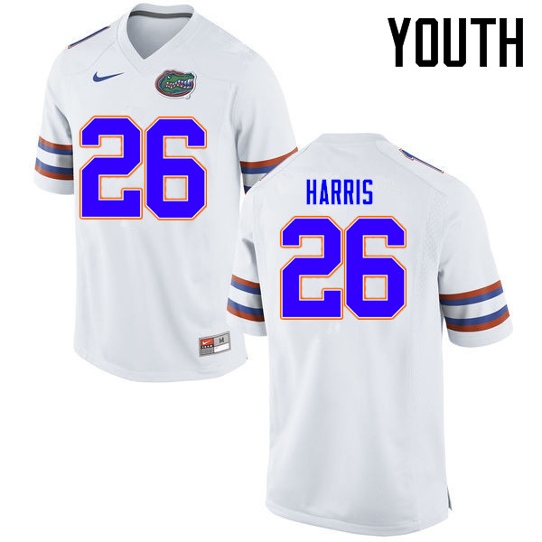 Youth Florida Gators #26 Marcell Harris College Football Jerseys Sale-White
