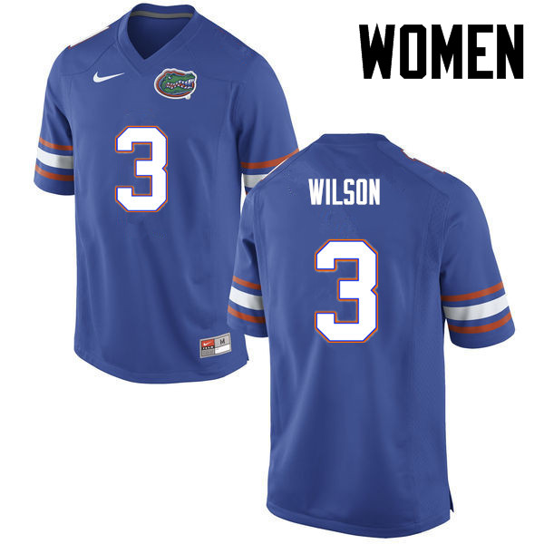 Women Florida Gators #3 Marco Wilson College Football Jerseys-Blue