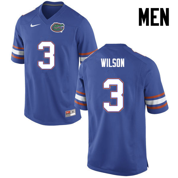 Men Florida Gators #3 Marco Wilson College Football Jerseys-Blue