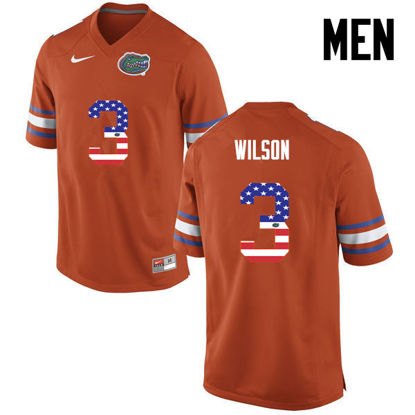 Men Florida Gators #3 Marco Wilson College Football USA Flag Fashion Jerseys-Orange