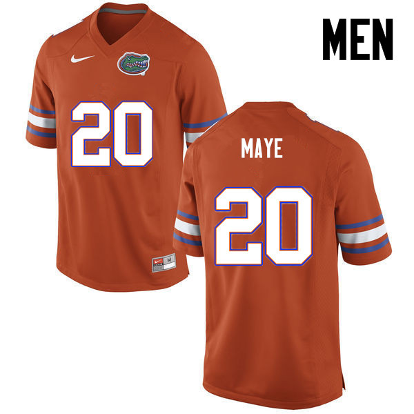 Men Florida Gators #20 Marcus Maye College Football Jerseys-Orange