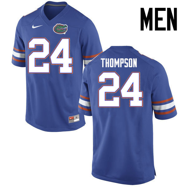 Men Florida Gators #24 Mark Thompson College Football Jerseys Sale-Blue