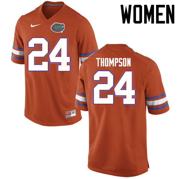 Women Florida Gators #24 Mark Thompson College Football Jerseys Sale-Orange