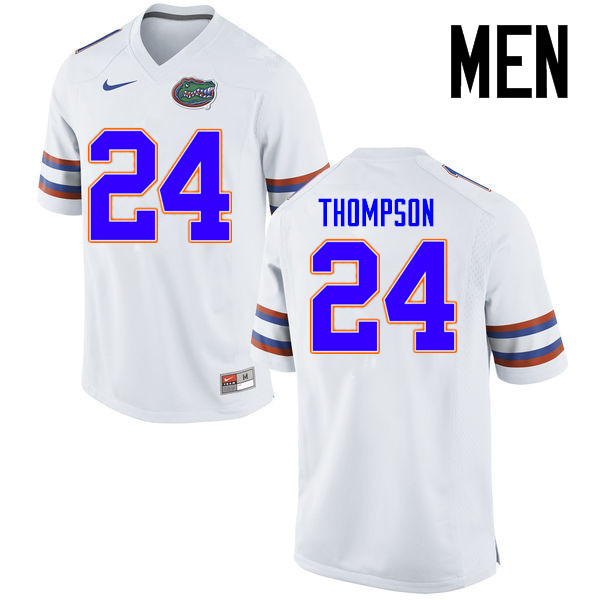Men Florida Gators #24 Mark Thompson College Football Jerseys Sale-White