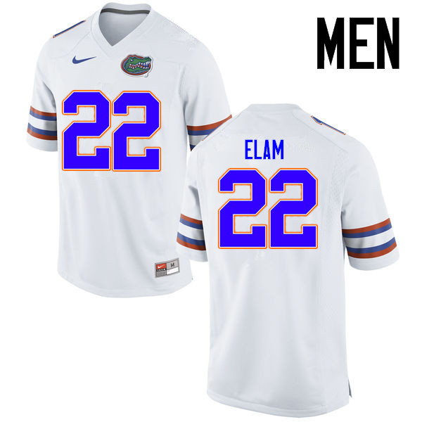 Men Florida Gators #22 Matt Elam College Football Jerseys Sale-White