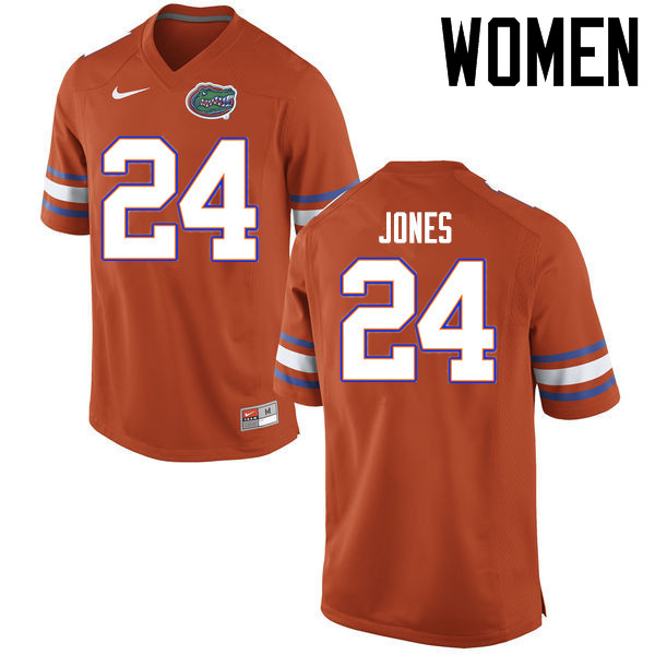 Women Florida Gators #24 Matt Jones College Football Jerseys Sale-Orange