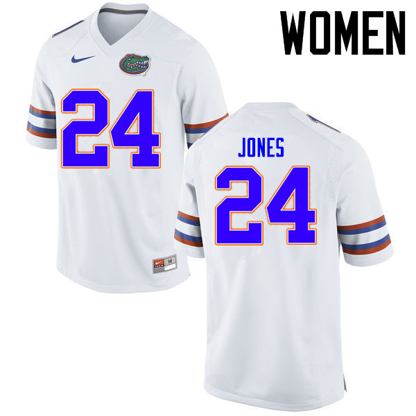 Women Florida Gators #24 Matt Jones College Football Jerseys Sale-White