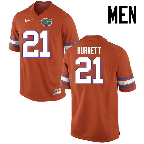 Men Florida Gators #21 McArthur Burnett College Football Jerseys Sale-Orange