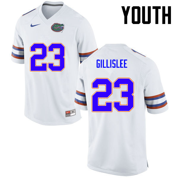 Youth Florida Gators #23 Mike Gillislee College Football Jerseys-White